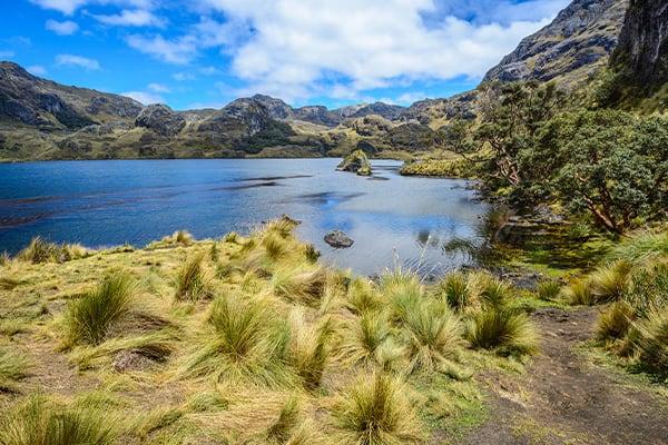 High Andean Lake Ecuador Andes