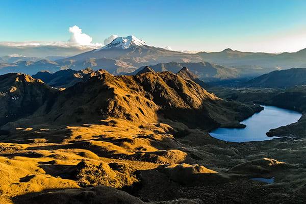 Papallacta high altitude lake near Quito