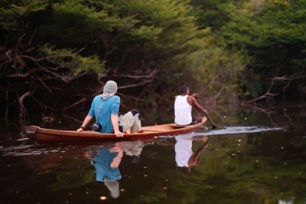 Canoe Ride amazon tributary