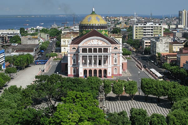 manaus operahouse aerial view