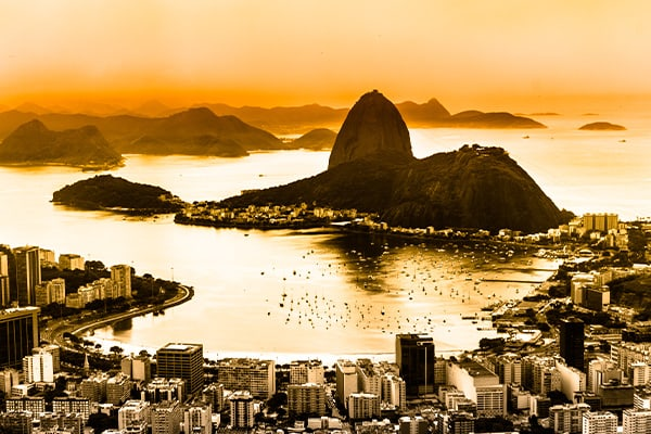 Rio Sunset over the bay