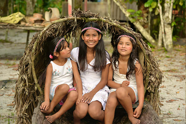 well dressed kids in the amazon