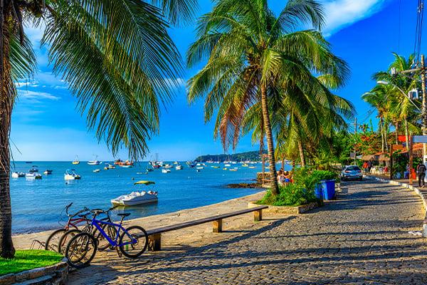 Buzios coastline Brazil