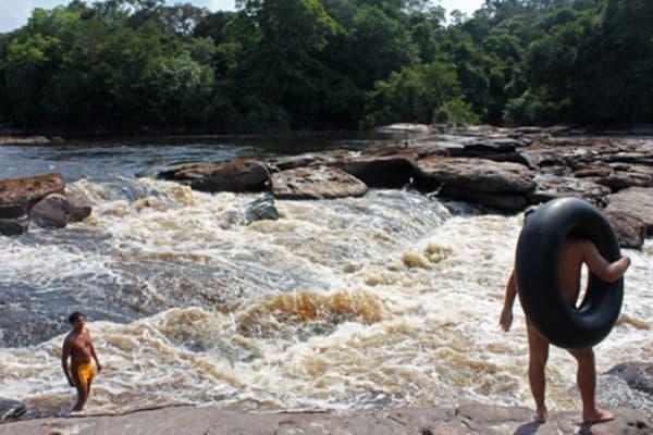 Tubing in the Amazon
