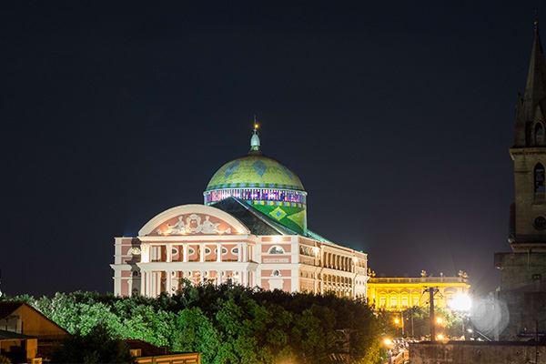 Manaus opera house at night