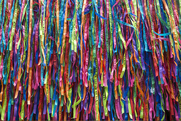 Strips of paper multi colored salvador