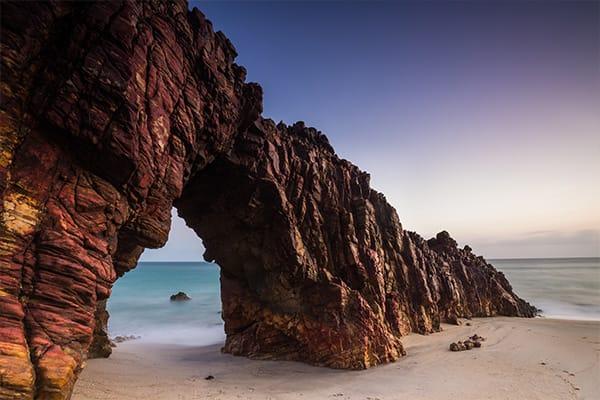Rocks beach Brazil Jericoacara