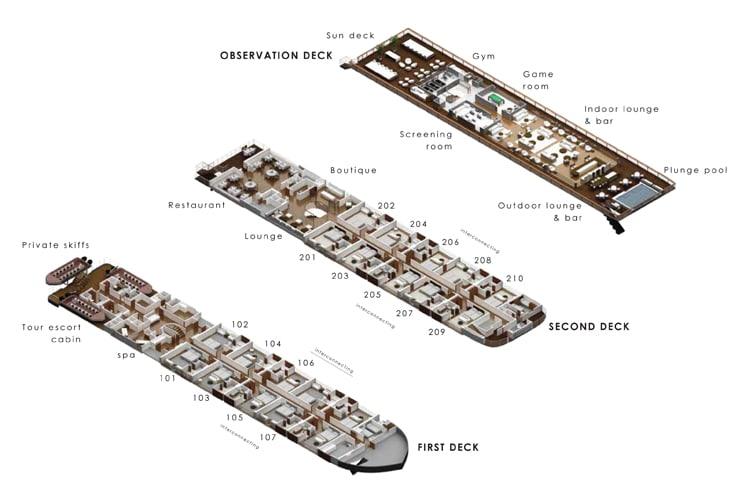 Detailed deck plan of Aqua Nera
