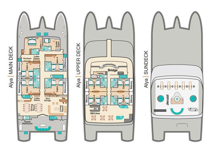 Alya Deck Plan