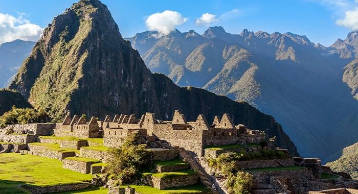 Machu Picchu Profile at Sunrise