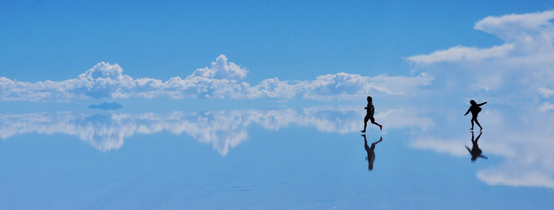 Running Across Salar Uyuni Bolivia