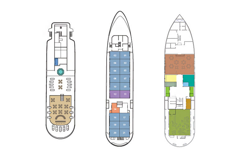 Deck plan of Isabella II