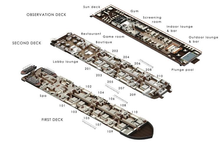 Aqua Mekong deck plan