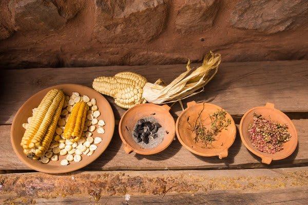 Sacred Valley Peru Ancient Grains Display