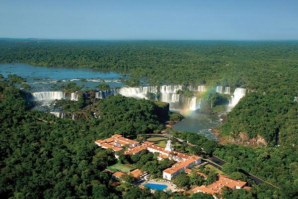 Iguazu Falls with Belmond hotel foreground