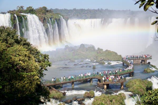 Boardwalk to the Falls of Iguazu
