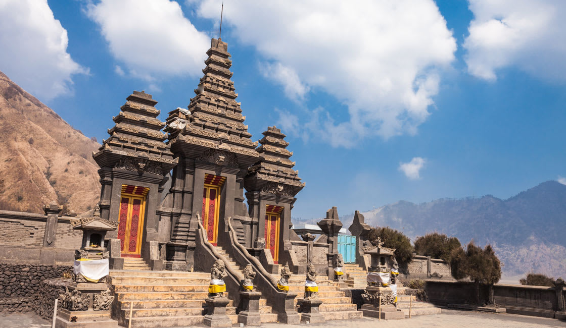 temple at mount bromo