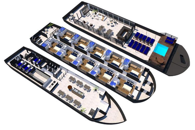 Deck Plan Peralta Cruise