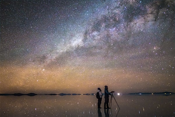 Amazing Stars over Uyuni Nighttime