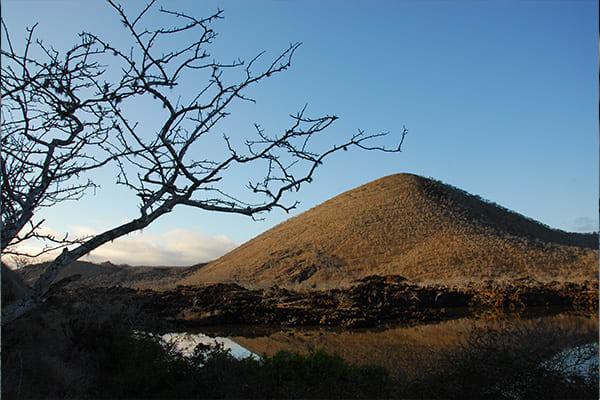 Island panorama with hill Galapagos