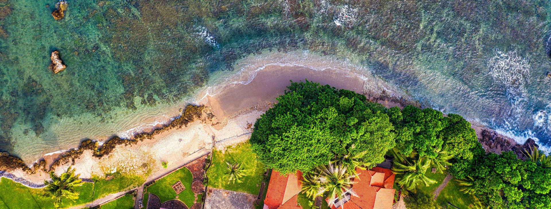 Beach Indonesia aerial view
