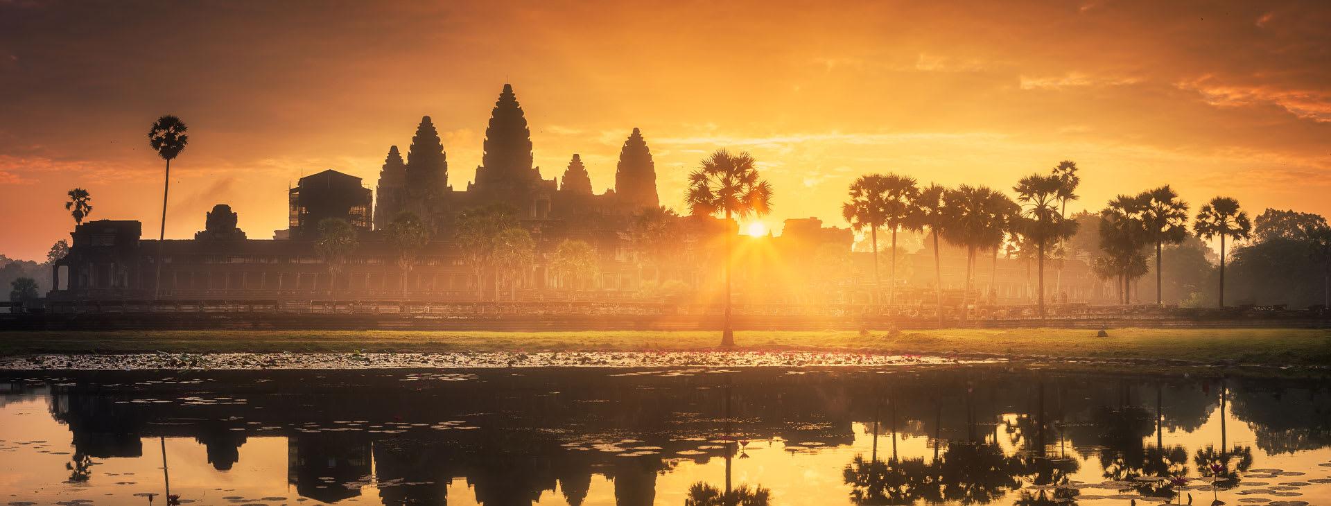 Angkor Wat in the sunrise light