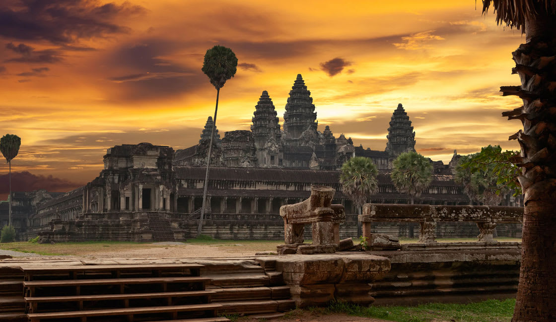 Angkor Wat in the sunset light
