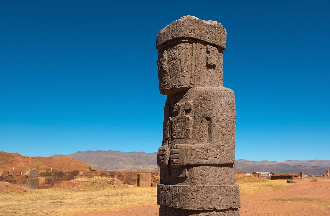 Monolith,Statue,Of,Ponce,,Ancient,City,Of,Tiwanaku,(tiahuanaco)