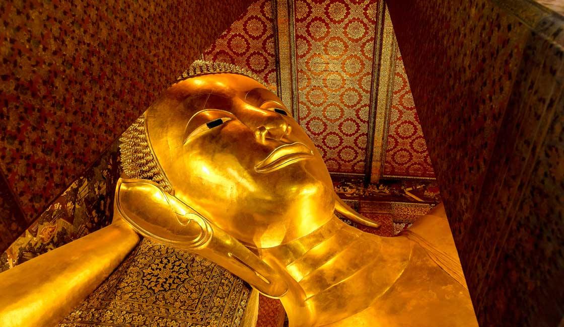 Reclining Buddha's head