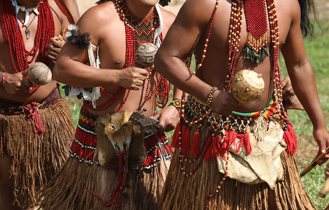 Brazilian,Indians,Of,The,Pataxã³,Ethnic,Group,During,Their,Daily
