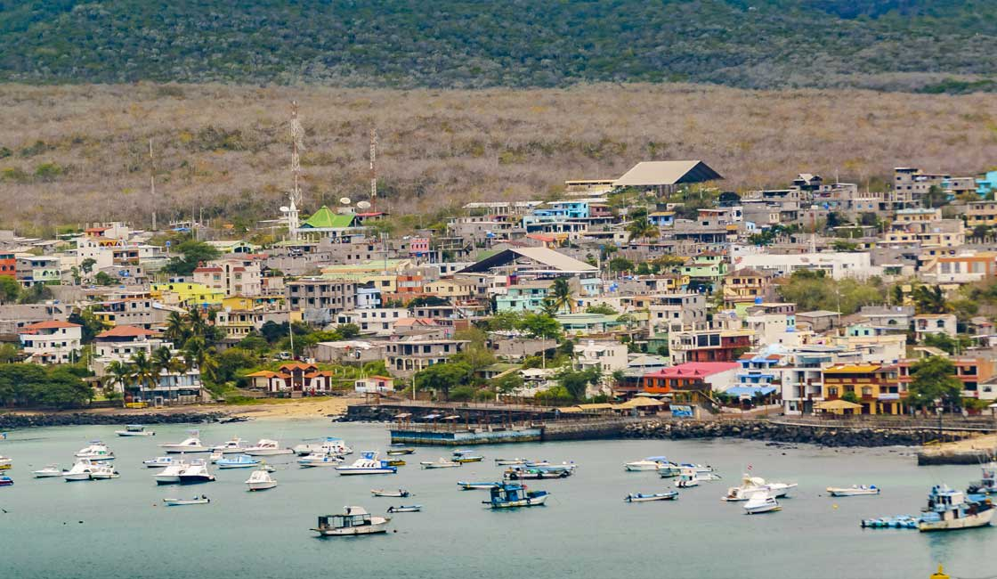 Port town in Galapagos