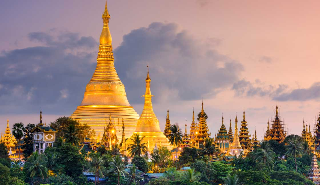 Gold pagoda in Myanmar