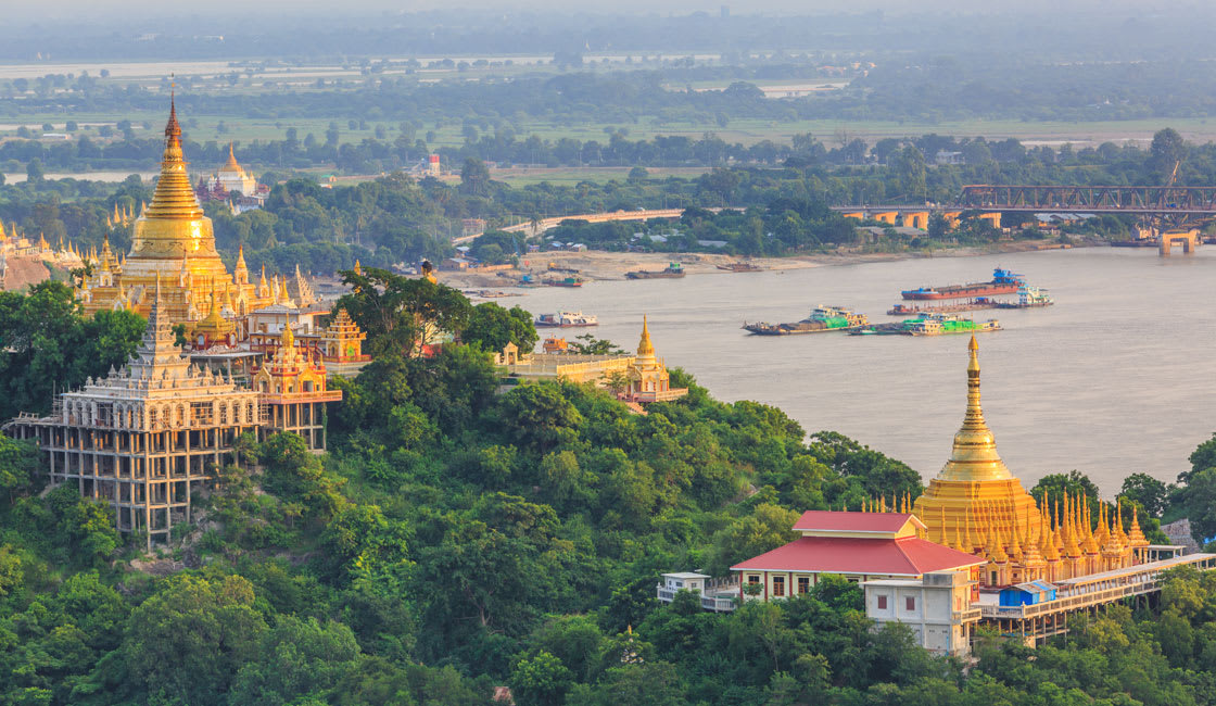 Irrawaddy in Sagaing from the hill