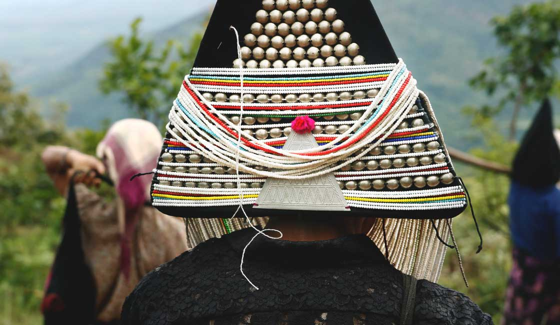 Head piece of Akha tribe