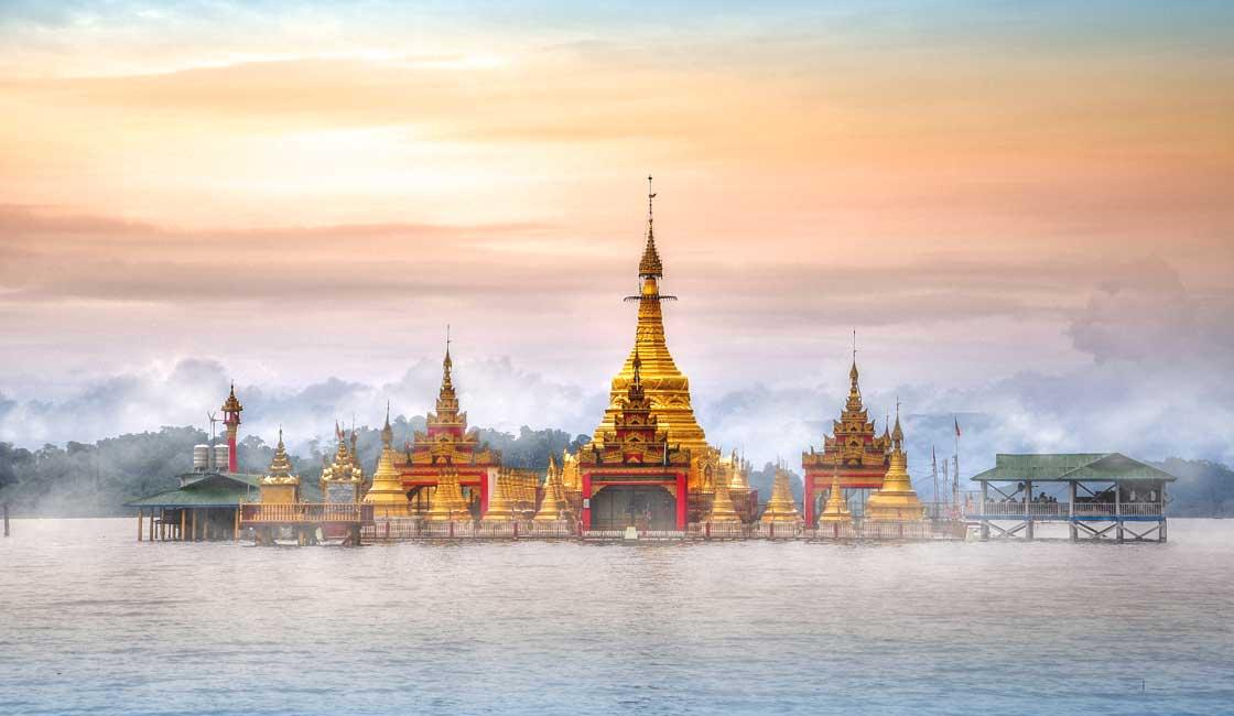 Beautiful floating pagoda