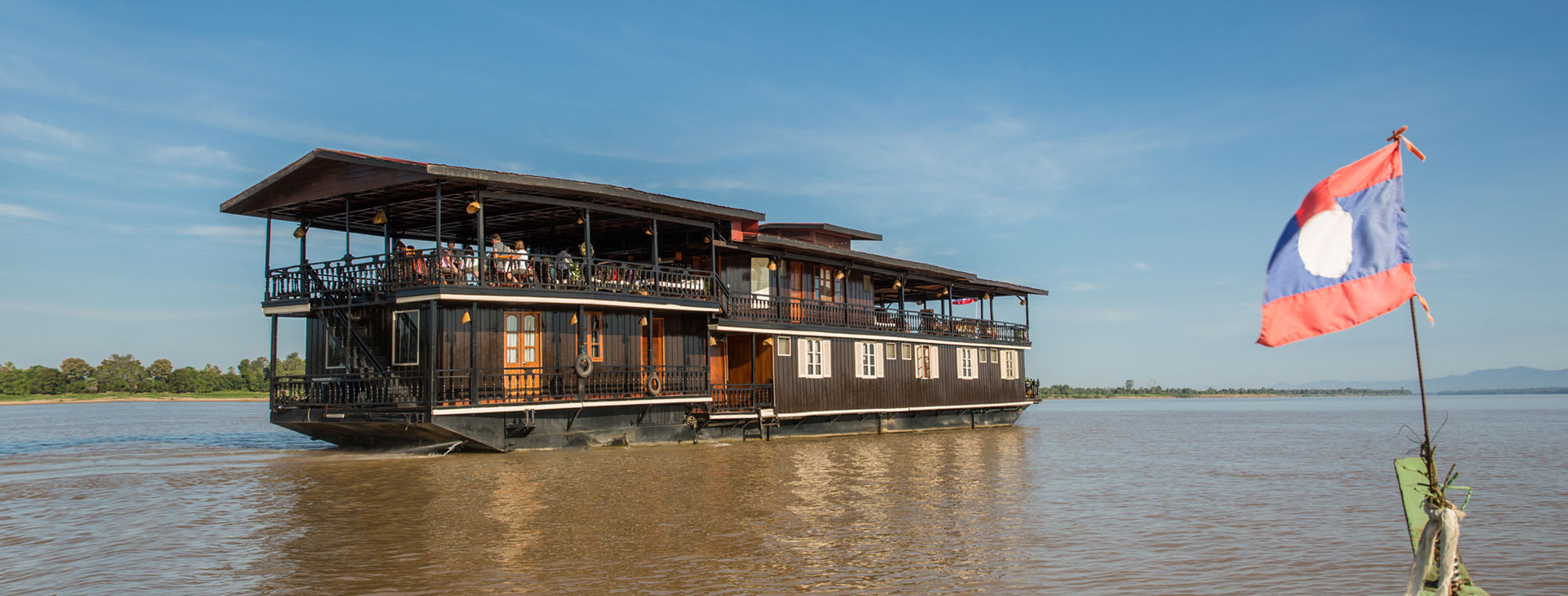 Vat Phou cruising the Mekong in the south of Laos