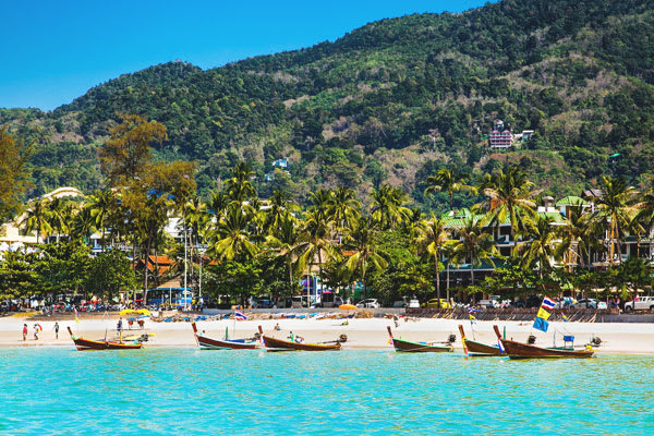 Boats on the beach in Phuket