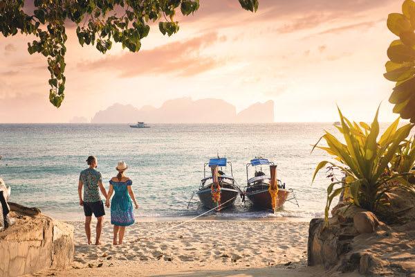 A couple on a beach in Phuket