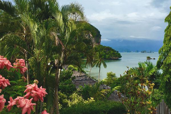 View from the island to the Phang Nga Bay