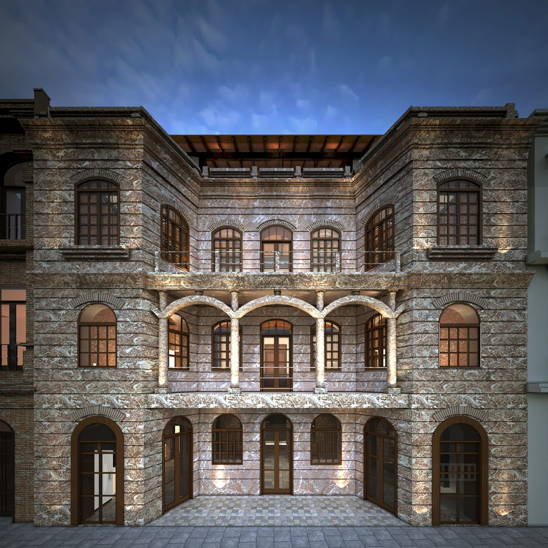 Exterior Of The Cruz Del Vado Hotel In Cuenca