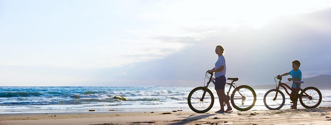 Bike Ride At The Beach