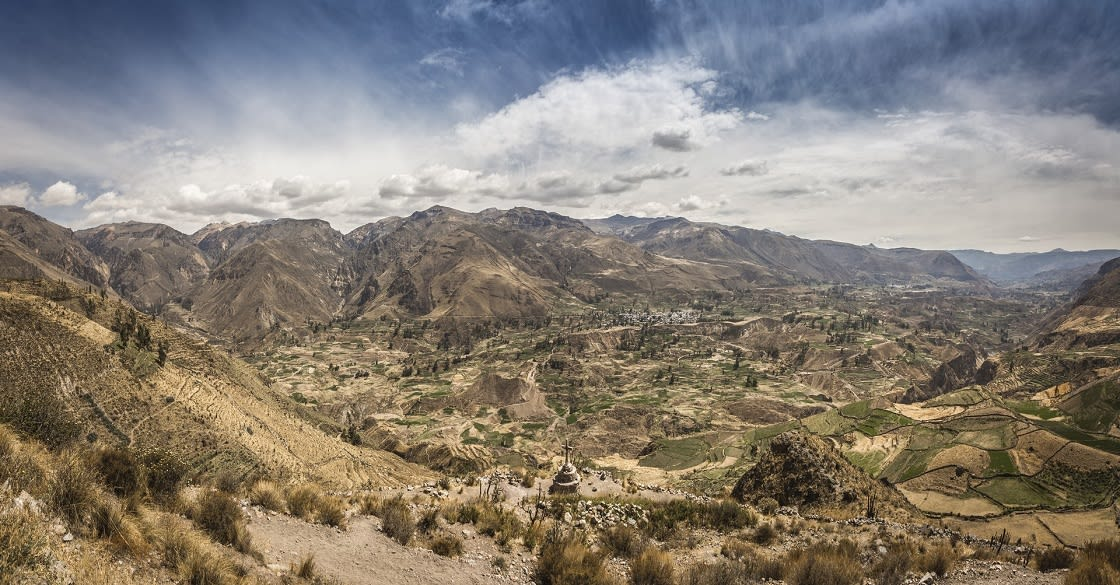 Panoramic View Of The Colca Canyon