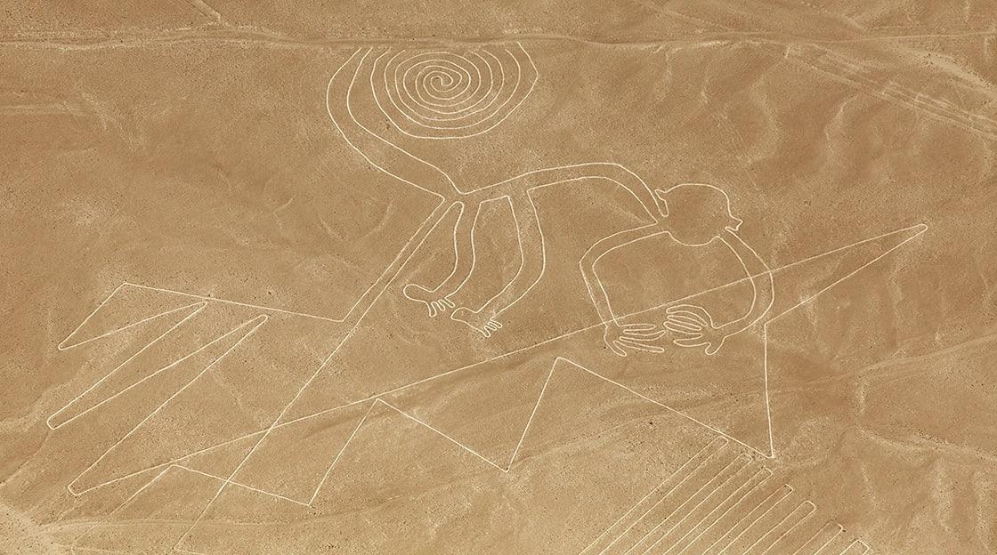 Monkey Geoglyph Nazca Mysterious Lines