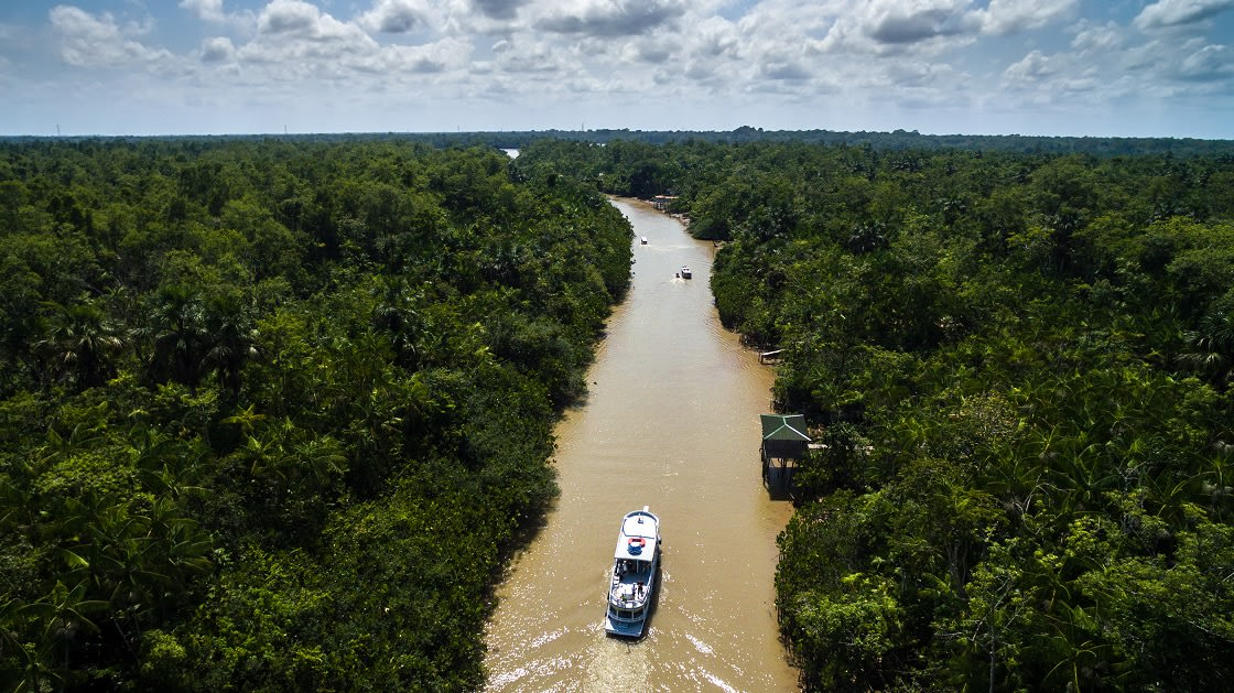 Aerial View Of The Amazon River In Belem, Brazil