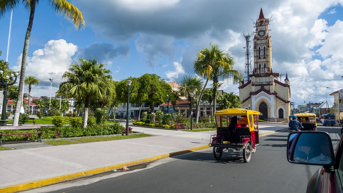 Central,Park,In,Iquitos,City