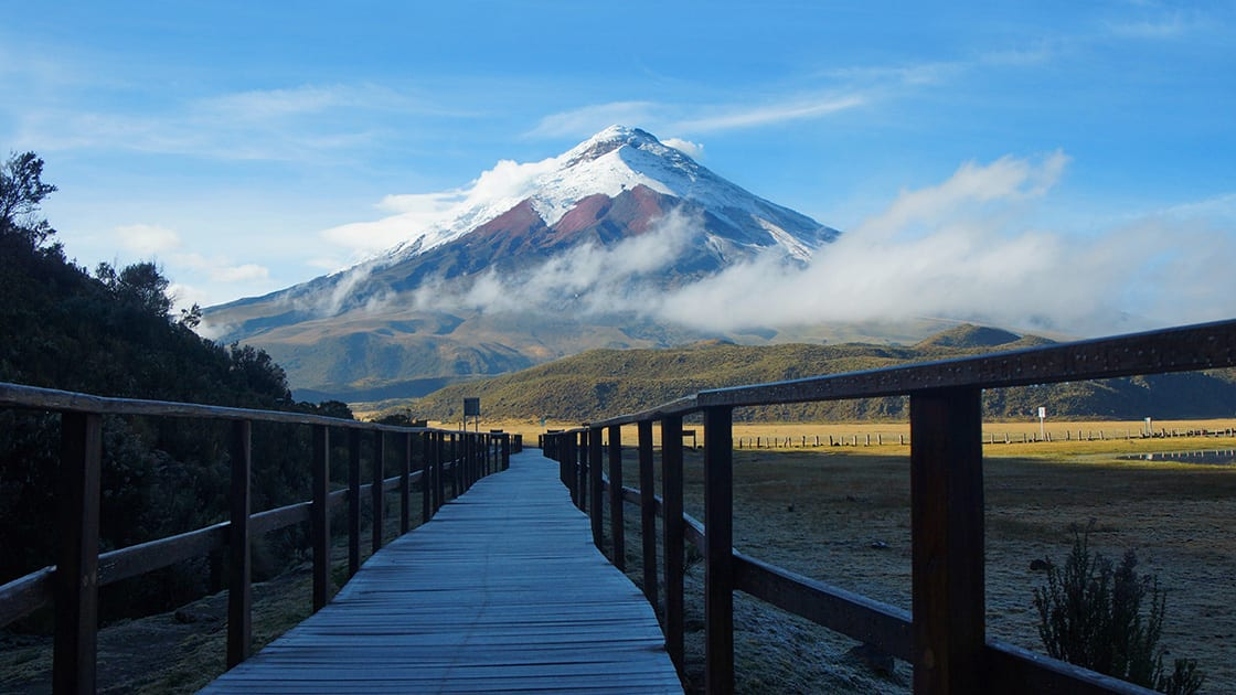 Spectacular View Of The Cotopaxi Volcano