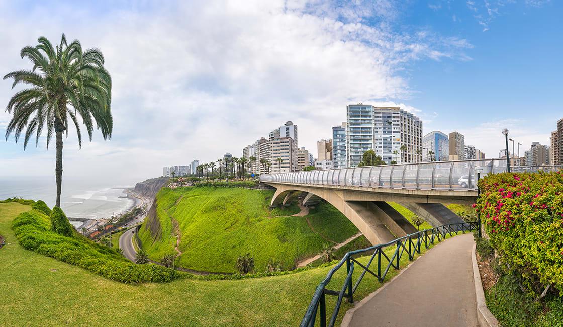 Panoramic view of Miraflores Distric, Lima - Peru