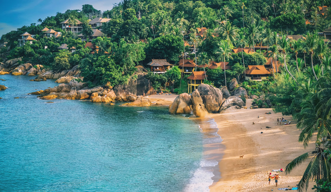 perfect beach for honeymooners