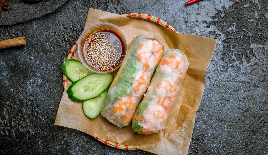 Food Shrimp Spring Roll