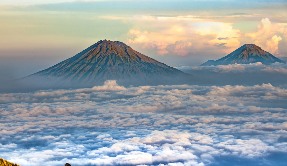 far view from mount bromo